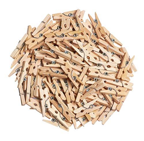 100 pinces en bois, Gros acheteurs VBS Naturel