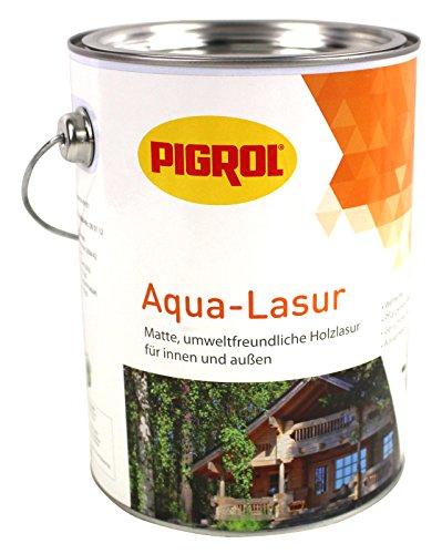 Pigrol Aqua Lasur 2,5L natur umweltfreundliche Holzlasur für innen und aussen