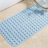 xuandaolin Badewanne Matte Anti Schimmel rutschfeste Duschmatte wasserdicht ungiftig und geschmacklos Hellblau 78cm × 48cm