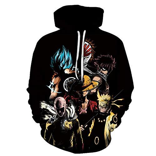 BDN Naruto Shippuden Sudadera con Capucha de Invierno Unisex para Adulto, Hombre con suter, Chaqueta Holgada de Manga larga-WY622_SG