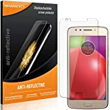 4 x SWIDO Protector de pantalla Motorola Moto E4 Protectores de pantalla de película 'AntiReflex' antideslumbrante