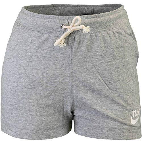Nike Gym Vintage MR - Pantalones cortos para mujer Gris y seda. XS