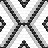 FloorPops FP2950 Leyton Peel & Stick Floor Tile, Black