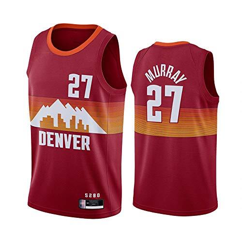 XXMM Uniformes De Baloncesto De Los Hombres, NBA Denver Nuggets # 27 Jamal Murray Sports Outdoor Sports Jersey Camisetas Sin Mangas Camisetas Deportivas Chaleco Tops,S(165~170CM)