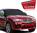 Fedciory Car Windshield Snow Cover,3-Layer Protection&Double Side Design,Snow, Ice, Frost,UV Full Protection,Extra Large & Thick Fit for Most Vehicle(88'x50')
