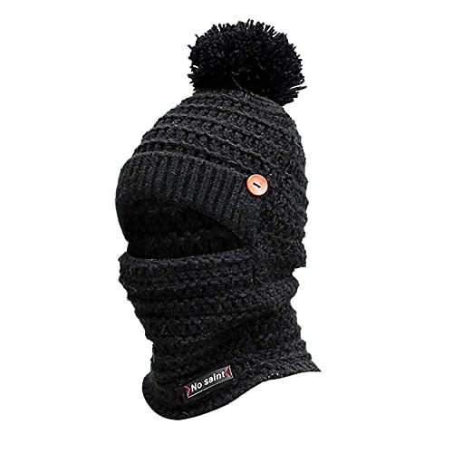 75a0a8a7459 Knitting Beanie Hat Scarf Men s Women s Winter Plaid Hairball Hat Thicken  Hedging