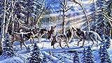 Puzzle de madera de 1000 piezas de lobos