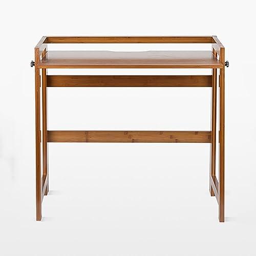 LQQGXLPortabler Klapptisch Computertisch aus massivem Holz, Klappschreibtisch, einfacher Lernschreibtisch, (Größe   84  50  80CM)