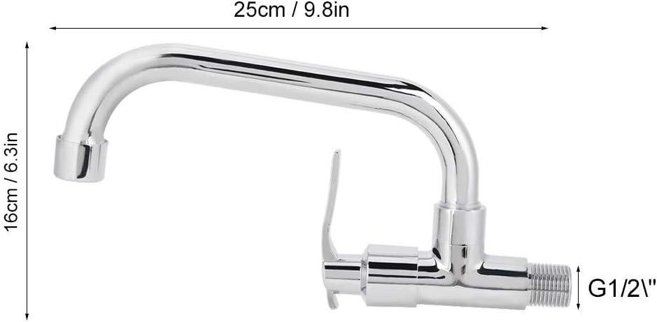 Jingyi Grifo de Agua #1 Grifo de Agua Universal G1//2in Montado en la Pared Grifo de Agua del Grifo del Fregadero de Agua fr/ía para Uso dom/éstico en la Cocina