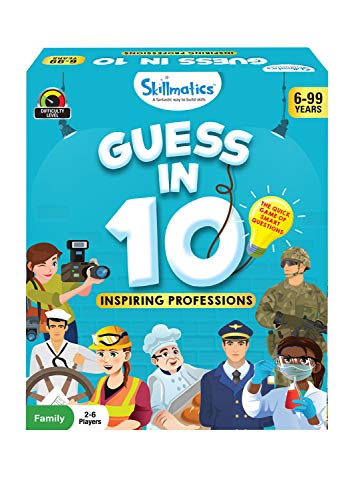 Skillmatics Educational Game: Inspiring Professions - Guess in 10 (Ages 6-99) | Card Game of Questions | General Knowledge for Kids, Adults and Families