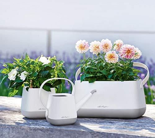 Lechuza YULA Flower, weiß/grün Seidenmatt, Hochwertiger Kunststoff, für Schnittblumen geeignet, Zur Innenraumbegrünung, 13873