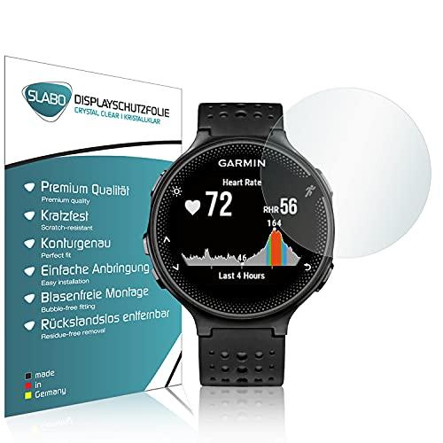 Slabo 4 x Displayschutzfolie kompatibel mit Garmin Forerunner 235 Displayschutz Schutzfolie Folie Crystal Clear KLAR