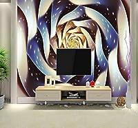 Wkxzz 壁の背景装飾画 カスタム壁紙ステレオローズ壁画リビングルームテレビの背景装飾画寝室ホテルロビー壁紙-400X280Cm