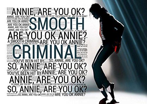 Michael Jackson – Smooth Criminal 1 – Pop Star Legend Superstar King mejor foto a color impresión única A3 Póster de pared laminado