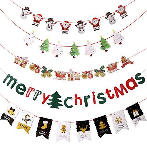 LOKIPA クリスマス 飾り付け 5点セット 装飾 デコレーション ガーランド パーテイー小物