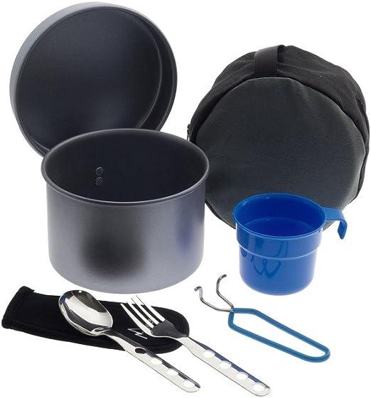 Laken - Juego de Utensilios de Cocina antiadherentes de Aluminio para Camping