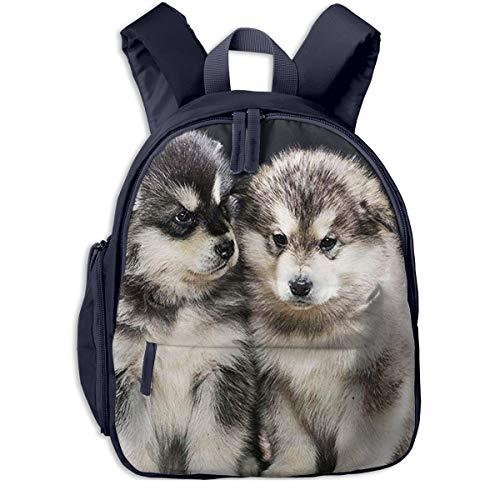 Mochila para Niños Cachorros de Alaskan Malamute 1, Mochila Escuela Primaria De Edad Peso Ligero Pérdida Mochila De Viaje para Chico Chica