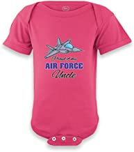 Cute Rascals Proud of My Air Force Uncle Boys-Girls Cotton Baby Bodysuit One Piece