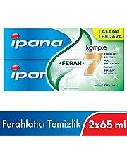 Ipana Komple Bakım Diş Macunu Plus Ağız Bakım Suyu Ferahlatıcı Temizlik (65 ml Plus 65 ml) 1 Alana 1 Bedava Paketi