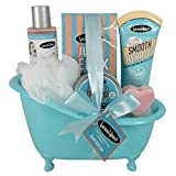 Gloss! - Tina de Baño Azul - Caja de regalo para las mujeres - Beautyous - Aroma Karité, Vainilla y Mentha Citrata - 6 pzs