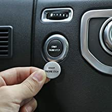 YUECHI Aluminum Alloy Car Engine Start Stop Button Cover Sticker for Land Rover Discovery 4 2010-2016 Range Rover Sport 2010-2013 Interior Accessory