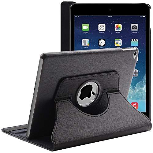 ebestStar - Cover Compatibile con iPad Air 2, iPad 6 Custodia Protezione Pelle PU con Supporto Rotazione 360, Nero [Apparecchio: 240 x 169.5 x 6.1mm, 9.7'']