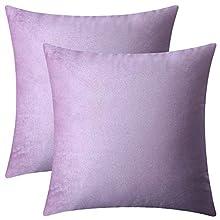 BlueCosto (2_Morado Terciopelo Fundas de Cojines Funda de cojín para sofá Almohada Dormitorio Coche Suave Decoración 45 x 45 cm