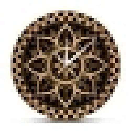 Reloj de Pared Lujo Oro Negro Mandala Étnico Patrón Real Reloj de Pared Reloj de Pared Diseño de Sol Indio Estudio de Yoga Silencio Sin tictac Horologe