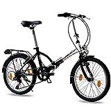 Leader 20' VÈLO Pliant Pliable Bicyclette FOLDO Blanche Noir (SW) - 50,8 cm (20 Pouces)
