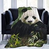 CheXe Manta De La Siesta Felpa Sofás Franela Oso Panda Buen sueño L127cm x W102cm