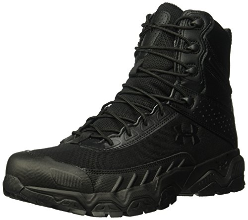 Under Armour Men's Valsetz Military and Tactical Boot, Black (001)/Black, 12