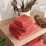 LA MALLORQUINA Toalla algodón Peinado - Basic LM Arcilla (Toalla Lavabo - 50x100cm - Arcilla) | Toallas de Baño, Hotel, Gym, SPA