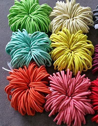 AOM 5000 pcs 4 mm d'épaisseur Élastique Cheveux Bandes Queue de Cheval Bobbles Cheveux Élastiques Bobbles Filles Cheveux Bandes Ponios Mix Couleur 14 cm Longueur