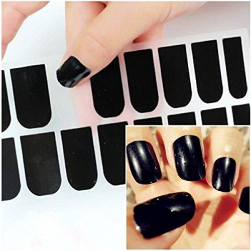 CHENGYIDA 16 Stks Super Star Nagel Kunstlak (BLACK) Metallic Folie Sticker Patch Wraps Tips voor Vrouwen Meisjes Vrouw Als Valentijnsdag Gift