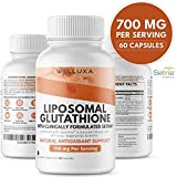 Liposomal Glutathione Setria® (700 mg) - Pure Reduced Glutathione Capsules for Skin Whitening Antioxidant Support Liver Detox Immunity - Liposomal Glutathione Supplement - GSH L-Glutathione (60 ct)