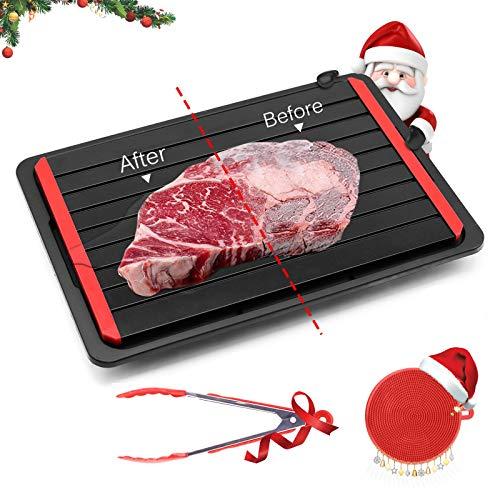 GEMITTO Plaque decongelation rapide, Gadget dégel cuisine , Décongélation rapide la viande, Avec plateau...