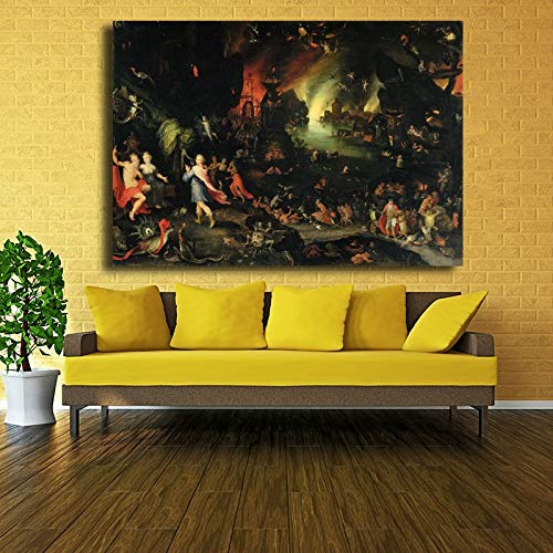 Frameloze olieverf Kunstwerk Portret Ng De Tuin Van Aardse Genieten Hieronymus Bosch Muurfoto's Voor Woonkamer Cuadros Thuis