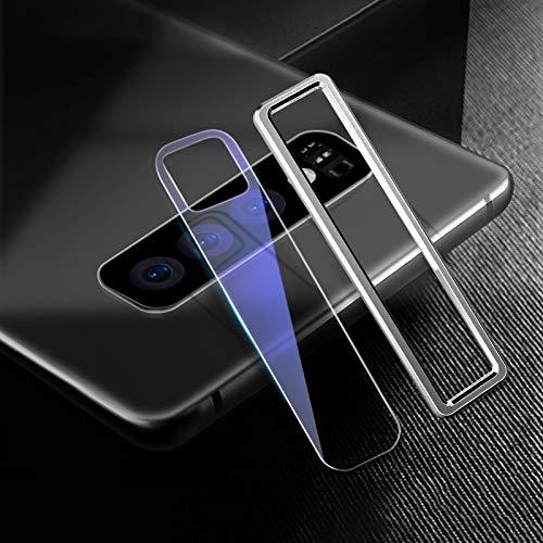 Goede Scratchproof Mobiele Telefoon Metalen Achterste Camera Lens Ring + Achterste Camera Lens Gehard Beschermende Film Set voor Samsung Galaxy S10+ (Zwart) Moonbaby ZILVER