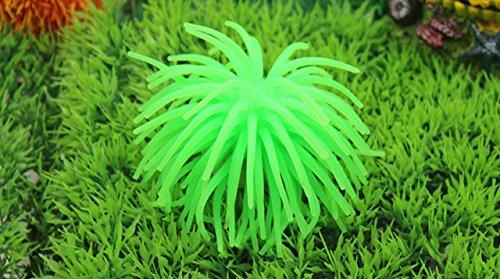 Kimberleystore Aquarium-Dekoration aus Silikon, künstliche Koralle, Grün