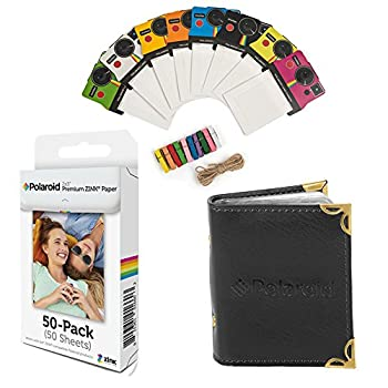 Polaroid 2x3 inch Premium Zink Photo Paper  50 Sheets  Compatible with Polaroid Mint Snap Touch Zip Z2300