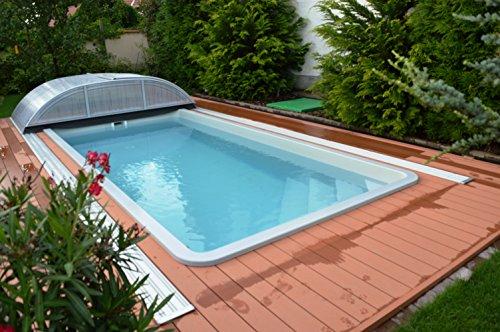 Rimini Schwimmbecken (5,7m x 2,7m x 1,4m) mit vormontierter Basisausstattung (Beige)