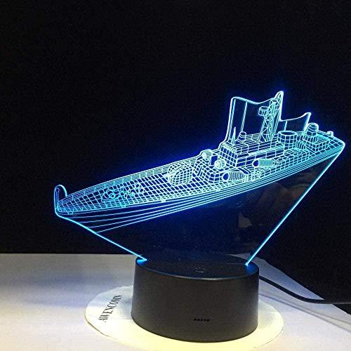 GEZHF La lámpara de ilusión 3D trajo luz nocturna para destruir la lámpara de mesa de acrílico de la nave hinchazón lumineuse iluminación óptica para niños iluminación del hogar