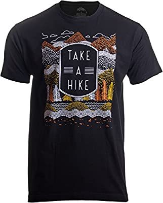 Take a Hike | Outdoor Nature Hiking Camping Graphic Saying for Men Women T-Shirt-(Adult,L) Black