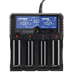 >3 Optional Currents: 0.5A 1A 2A Charging currents,can charge 4pcs 32650/D size battery at the same time. >TEST Mode: Test the real capacity of your battery as a battery cabinet. Record Function: Check and compare the test records of batteries whenev...