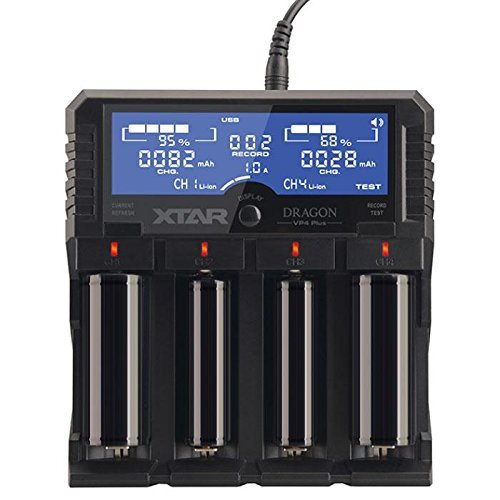 LCD Display Speedy Universal Battery Charger, XTAR DRAGON VP4 Plus Smart Charger...