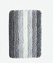 Gradient Stripe Microfiber Bath Rug Absorbent Non-Slip Bath Foot Pad Mat Carpet-Grey for Kitchen Indoor Rugs Bathroom Mats