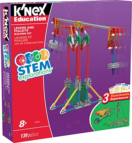 K'NEX 34387 - STEM Explorations Building Set Levers And Pullies, Baukasten Hebel und Seilzüge mit 130 Teilen, Konstruktionsset für 3 Modelle, Bau- und Konstruktionsspielzeug Set für Kinder ab 8+ Jahre