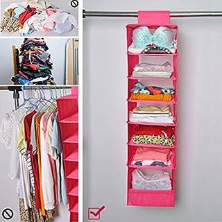 DETEWO 7Bureau de Couche Lavable à Suspendre Armoire tiroir sur Le côté Vêtements réception Sac Pliable Locker Room