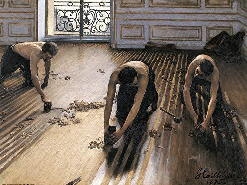 1art1 Gustave Caillebotte - Die Parkettschleifer, 1875 Poster Kunstdruck 80 x 60 cm
