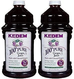 Kedem Concord Grape Juice, 100% Pure Juice, 96oz (2 Pack) No Sugar Added, No Artificial Flavors or Colors